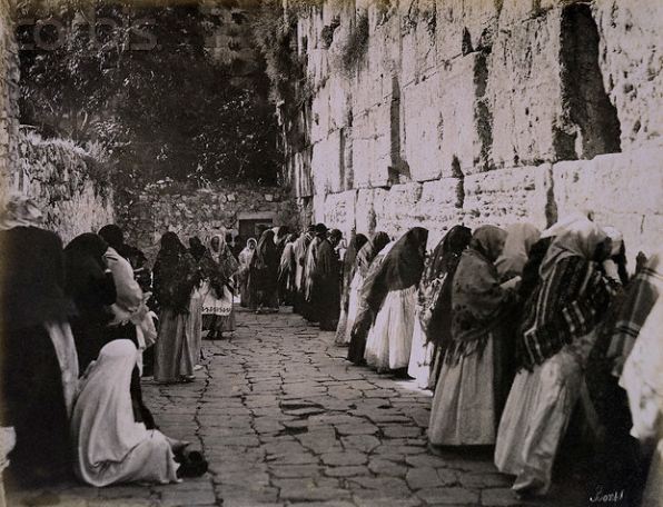 Jewish Worshippers at the Wailing Wall